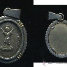 Antigüedades: - ANTIGUA MEDALLA YO REINARE DIVINO NIÑO JESUS PLATEADA. MEDIDAS: 28/28 MM.. Lote 31533195