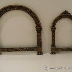 Antigüedades: PAREJA DE SACRAS, FUNDIDAS EN BRONCE. S.XVIII. Lote 31575151