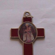 Antigüedades: CRUZ DE LA VIRGEN PEREGRINA PARA COLGANTE. Lote 31578197