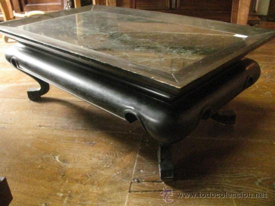 Mesa de centro vintage marmol verde estilo ori vendido for Mesas de centro antiguas