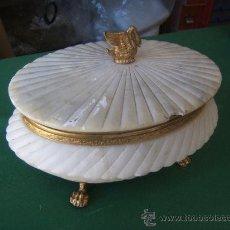 Antigüedades: CAJA DE ALABASTRO. Lote 31585328