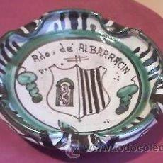 Antigüedades: CENICERO DE CERÁMICA DE TERUEL D.PUNTER,R.42.RDO,DE ALBARRACIN.. Lote 31593501