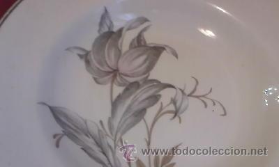 Antigüedades: Antiguo plato de cerámica de SANTANDER. - Foto 2 - 31594333