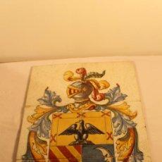Antigüedades: PLAFON DE 6 AZULEJOS FIRMADO ARROYO. Lote 31810127