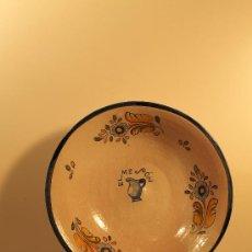 Antigüedades: PLATO ACUENCADO CERAMICA TALAVERA ALFAR NIVEIRO PROPAGANDA EL MESON. Lote 32085390