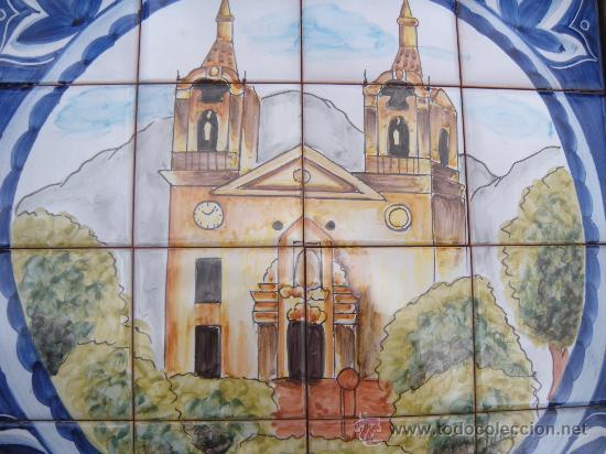 Antigüedades: MOSAICO DE 16 AZULEJOS, SANTUARIO DE LA FUENSANTA, MURCIA. FIRMADO LARIO. - Foto 5 - 31629177