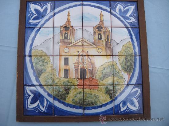 Antigüedades: MOSAICO DE 16 AZULEJOS, SANTUARIO DE LA FUENSANTA, MURCIA. FIRMADO LARIO. - Foto 2 - 31629177