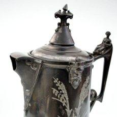 Antigüedades: GRAN Y EXTRAORDINARIA JARRA DE ESTAÑO - FABRICANTE REED&BARTON - MASSACHUSETTS - AÑO 1878. Lote 31602656