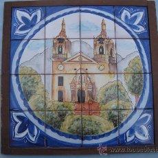 Antigüedades: MOSAICO DE 16 AZULEJOS, SANTUARIO DE LA FUENSANTA, MURCIA. FIRMADO LARIO.. Lote 31629177