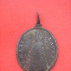 Antigüedades: MEDALLA RELIGIOSA ANTIGÜA (S. XVIII) EN BRONCE -S. MARIA LAURET (LORETO)-. 2,3 GRS. . Lote 31609588