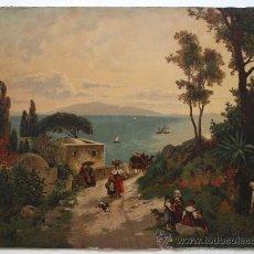 Antigüedades: CROMOLITOGRAFIA PAISAGE DE ITALIA G. ESTLER REF. P 4. Lote 31570899