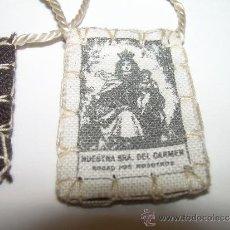 Antigüedades: ANTIGUO ESCAPULARIO VIRGEN DEL CARMEN.. Lote 31636374