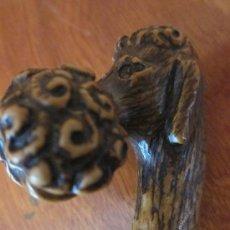 Antigüedades: ANTIGUO MANGO DE BASTÓN EN HUESO O MARFIL.S -XIX. Lote 31887600
