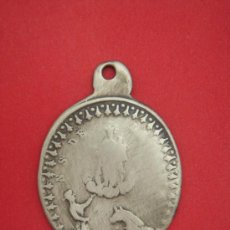 Antigüedades: MEDALLA RELIGIOSA ANTIGÜA (S. XIX) EN BRONCE, APARENTA ORO . PESO.- 4,1 GRAMOS.. Lote 31664986