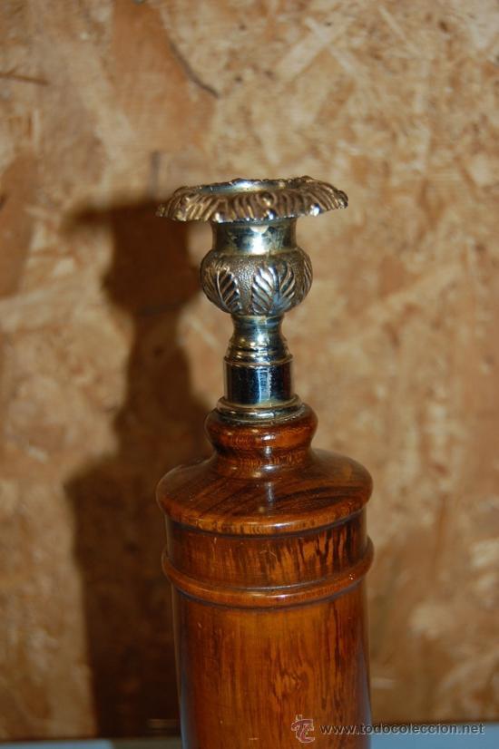 Antigüedades: PAREJA PORTAVELAS O CANDELABRO DE LA ÉPOCA VICTORIANA - Foto 2 - 31666665