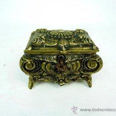 Antigüedades: CAJA JOYERO DE BRONCE. Lote 31691036