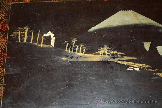 Antigüedades: ANTIGUA BANDEJA LACADA ORIENTAL DEL S.XIX - Foto 4 - 31694979