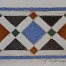 Antigüedades: REMATE O FRANJA DE AZULEJO.. Lote 31728711