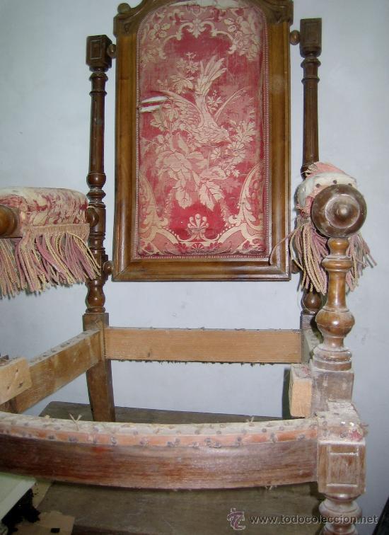 Sillon alfonsino en nogal para tapizar siglo xi comprar sillones antiguos en todocoleccion - Tapizar sillon precio ...