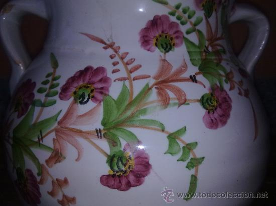 Antigüedades: preciosa olla pintada a mano y firmada lario. lorca-murcia - Foto 2 - 31737919
