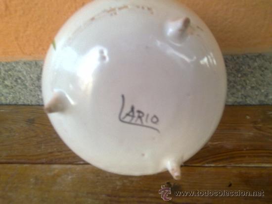 Antigüedades: preciosa olla pintada a mano y firmada lario. lorca-murcia - Foto 5 - 31737919