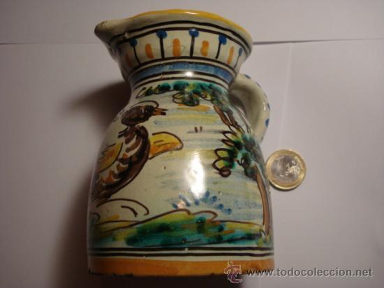 TALAVERA NIVEIRO PRECIOSA JARRA PINTADA A MANO - ARBOLES Y PAJARO 11 X 8 CM (Antigüedades - Porcelanas y Cerámicas - Talavera)