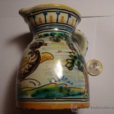 Antigüedades: TALAVERA NIVEIRO PRECIOSA JARRA PINTADA A MANO - ARBOLES Y PAJARO 11 X 8 CM. Lote 31739437