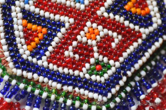 Antigüedades: bolso vintage de cuentas de cristal de colores - Foto 2 - 148889261