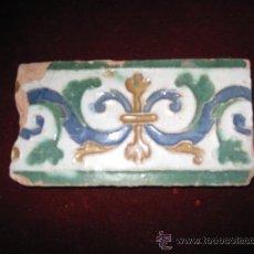 Antigüedades: AZULEJO ANTIGUO DE TOLEDO - CENEFA - ARISTA O CUENCA - RENACIMIENTO SIGLO XVI. Lote 31761911