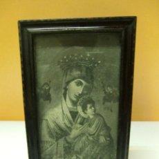 Antigüedades: VIRGEN DEL PERPETUO SOCORRO. MARCO DE MADERA ANTIGUO. Lote 35889896
