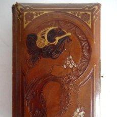 Antigüedades: MODERNISMO. ART NOUVEAU.ESPECTACULAR ALBUM FOTOGRAFIAS SIGLO XIX.'LA PRIMAVERA' DE A.MUCHA. Lote 31805134