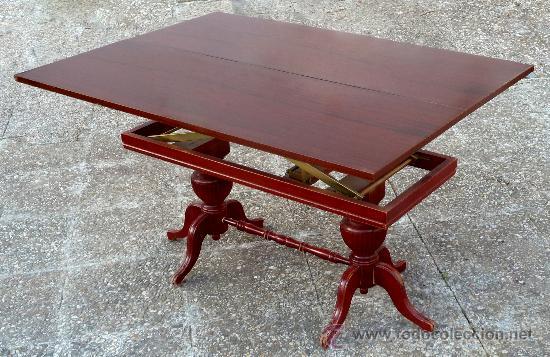 Mesa de comedor antigua madera convertible en m vendido for Mesas de centro antiguas