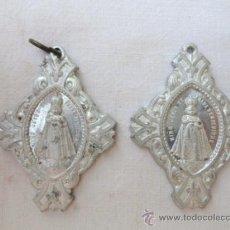 Antigüedades: LOTE DE 2 ANTIGUAS MEDALLAS RELIGIOSAS.. Lote 31810812