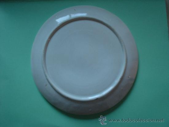 Antigüedades: Lote de tres platos con limones en relieve de 19cm de diametro. Plato valenciano. - Foto 2 - 33630563