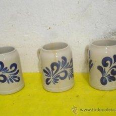 Antigüedades: 3 JARRAS DE CERAMICA. Lote 31834337
