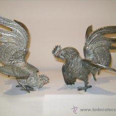 Antigüedades: GALLOS DE PELEA ANTIGUA. Lote 34034768