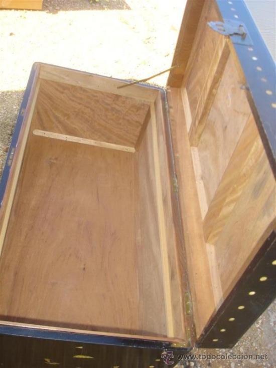 Antigüedades: arca oriental lacado con incrustaciones en nacar - Foto 6 - 31845206