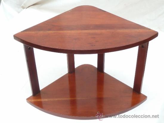 REPISA DOBLE RINCONERA DE CAOBILLA (Antigüedades - Muebles Antiguos - Repisas Antiguas)