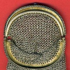 Antigüedades: BOLSO BOLSITO , PLATA, MONEDERO MALLA, ORIGINAL ANTIGUO, PESA 49,55 GRAMOS. Lote 31862295