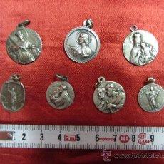 Antigüedades: DEVOTAS MEDALLITAS RELIGIOSAS EN PLATA DE LEY / PRINCIPIOS S. XX.. Lote 32039614