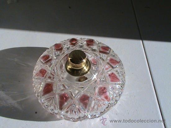 Antigüedades: Conjunto de Florero y Bombonera de cristal alemán WALTHERGLAS bañado en oro de 24 kilates - Foto 7 - 31889509