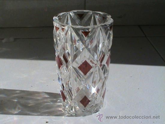 Antigüedades: Conjunto de Florero y Bombonera de cristal alemán WALTHERGLAS bañado en oro de 24 kilates - Foto 3 - 31889509