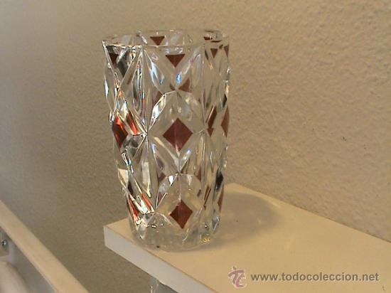 Antigüedades: Conjunto de Florero y Bombonera de cristal alemán WALTHERGLAS bañado en oro de 24 kilates - Foto 5 - 31889509