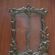 Antigüedades - antiguo marco de bronce 24x16 ctms - 31872445