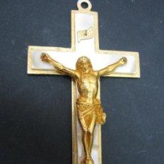 Antigüedades: ANTIGUA CRUZ CON CRISTO 7 CM. Lote 31882850