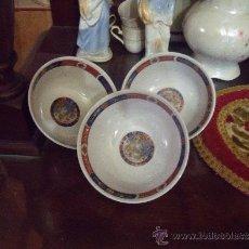 Antigüedades: JUEGO DE TRES CUENCOS DECORADO IMARI .. Lote 227206435