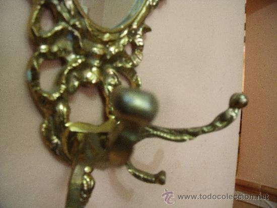 Antigüedades: PRECIOSO ESPEJO TIPO CORNUSCOPIA EN BRONCE - Foto 4 - 31884394
