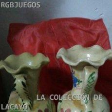 Antigüedades: ANTIGUA PAREJA DE FLOREROS OJO VER FOTOS. Lote 31885873