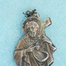 Antigüedades: ANTIGUA MEDALLA RELIGIOSA EN PLATA. Lote 31893542