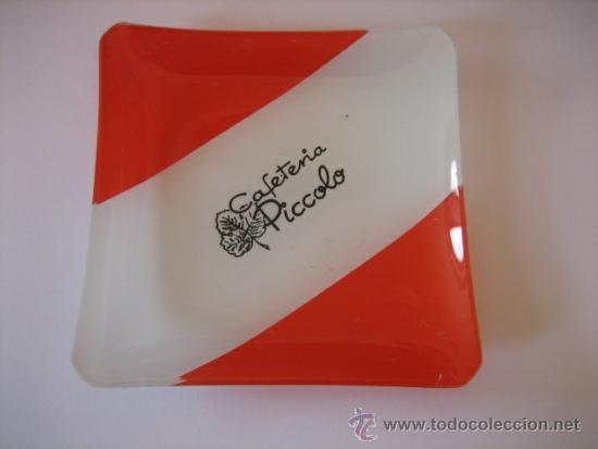 Antigüedades: CENICERO DE CRISTAL PUBLICITARIO CAFETERIA PICCOLO - Foto 2 - 12025056